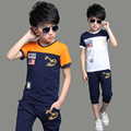 2017 Summer Children's Set Cotton O-Neck Short Sleeve T-shirt + Shorts Boys set Boy Sports Suit