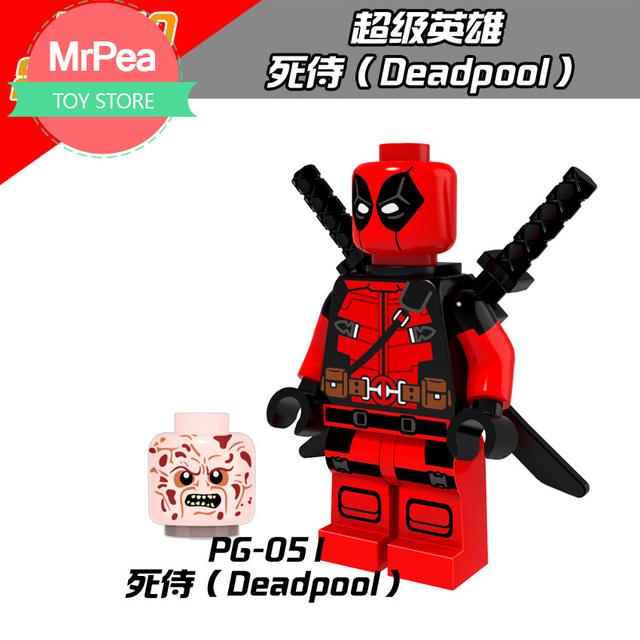 Decool Single Sale superhero Armed Deadpool building blocks bricks toys for children EDC technic FIT for legoings for figures