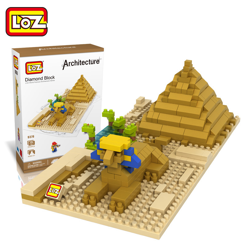 LOZ Architecture Sphinx Mini Diamond Nano Building Blocks Toys Egypt Sphinx DIY Bricks Figure Toys for Children Educational mr froger loz diamond block easter island world famous architecture diy plastic building bricks educational toys for children