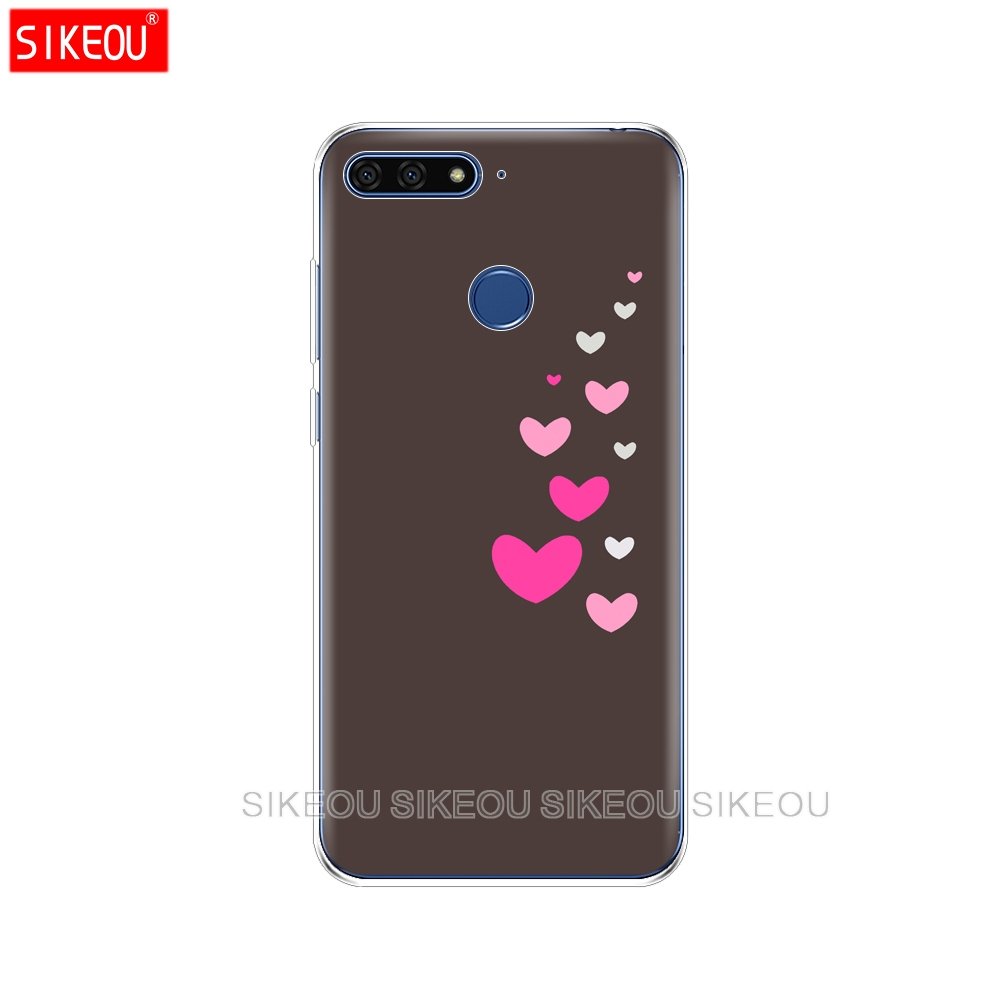 sito affidabile f2bda ef387 For Huawei Honor 7A Pro Case on Honor 7A Pro Cover Soft Silicone TPU  Printing Phone Back Cover Case For For Huawei Honor 7A Pro