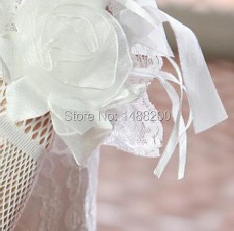 Новые цветы и Кружева Тюль Короткие Запястья Длина пальцев Свадебные перчатки Свадебные аксессуары luvas de noiva gants mariage