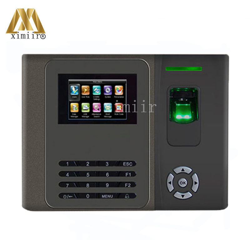 Free Shipping Biometric Fingerprint Time Attendance Time Clock TCP/IP Finger Door Access Control System