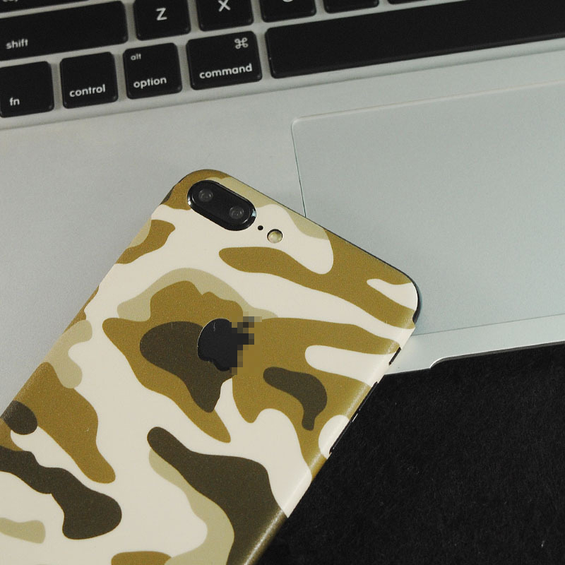 Colorful Fashion Navy Army Camo Stickers For iPhone 5 5S SE 6 6S 7 8 6/7/8 Plus X Back Films Protector Skins Fundas PVC Sticker