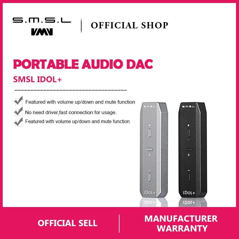 Klug Smsl Idol Tragbare Mini Usb Audio Dac Und Kopfhörer Verstärker Mirco Usb Dac Unterstützung Otg 24bit/192 Khz Schwarz Silber Digital-analog-wandler