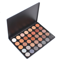 VVHUDA 35C Eyeshadow Makeup Palette 35 Color Waterproof Warm Neutrals Smooth Smoky Shadow Professional Make Up Set Kit Eyeshadow