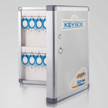 Aluminum alloy Key Cabinet Wall Mounted Security Management Keybox Storage Safes Contains key cards For Company Home Office