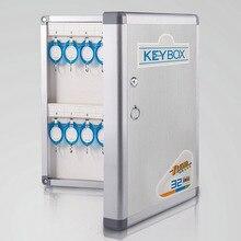 Sejf ze stopu aluminium do montażu naściennego zarządzanie bezpieczeństwem sejfy do przechowywania kluczy zawiera karty kluczowe do domowego biura firmy