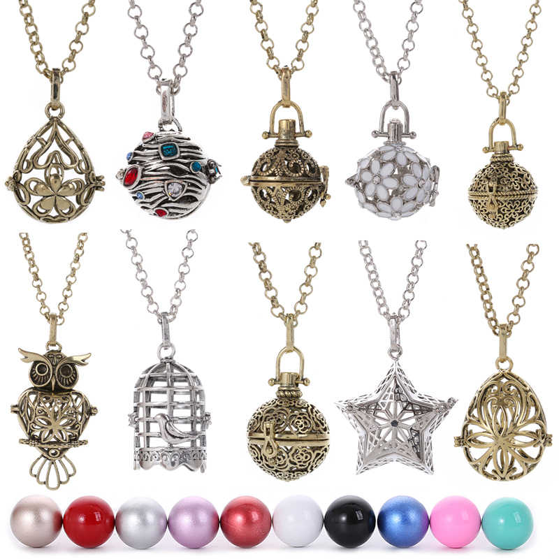 Mexico Chime Relaxing Musical Angel Ball Caller Locket Pregnancy Necklace for Aromatherapy Essential Oil Pregnant Women