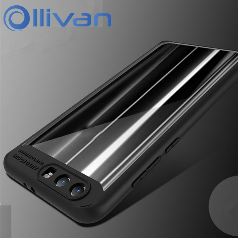 OLLIVAN Transparent Cover Case For Huawei Honor 9 Case Hybrid TPU Silicone Frame PC Cover Honor9 Case Shockproof Fundas Capa 5.2