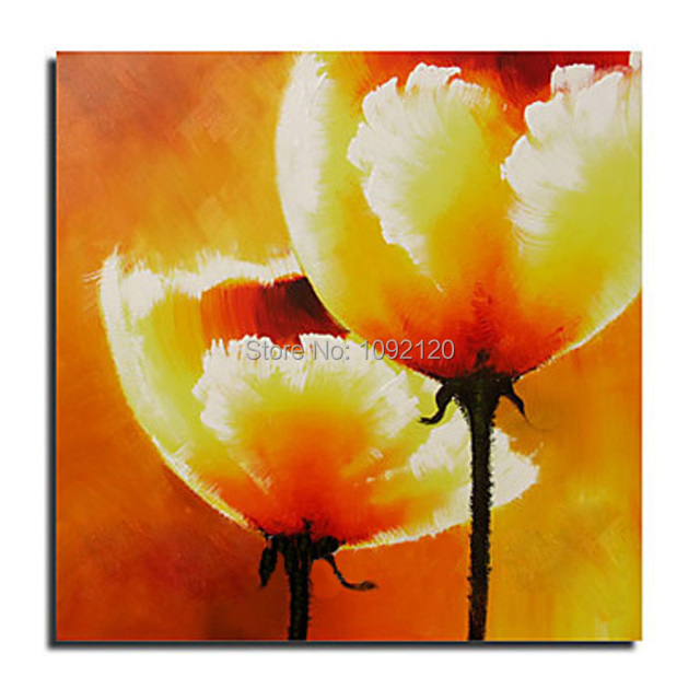 Hand painted home decor art abstract yellow corn poppy flower oil hand painted home decor art abstract yellow corn poppy flower oil painting on canvas pop paintings mightylinksfo
