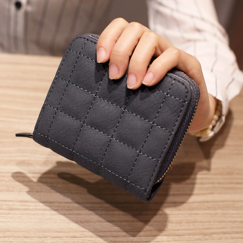 JJDXBPPDD Women Mini Wallets Female Short Money Wallets PU Leather Lady Zipper Coin Purses Fashion Card Holders