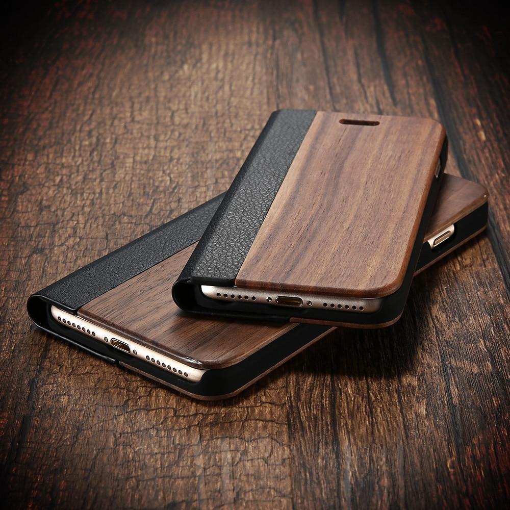 Kisscase bambu balik phone case untuk iphone 11 8 7 6 6 s kayu - Aksesori dan suku cadang ponsel - Foto 5