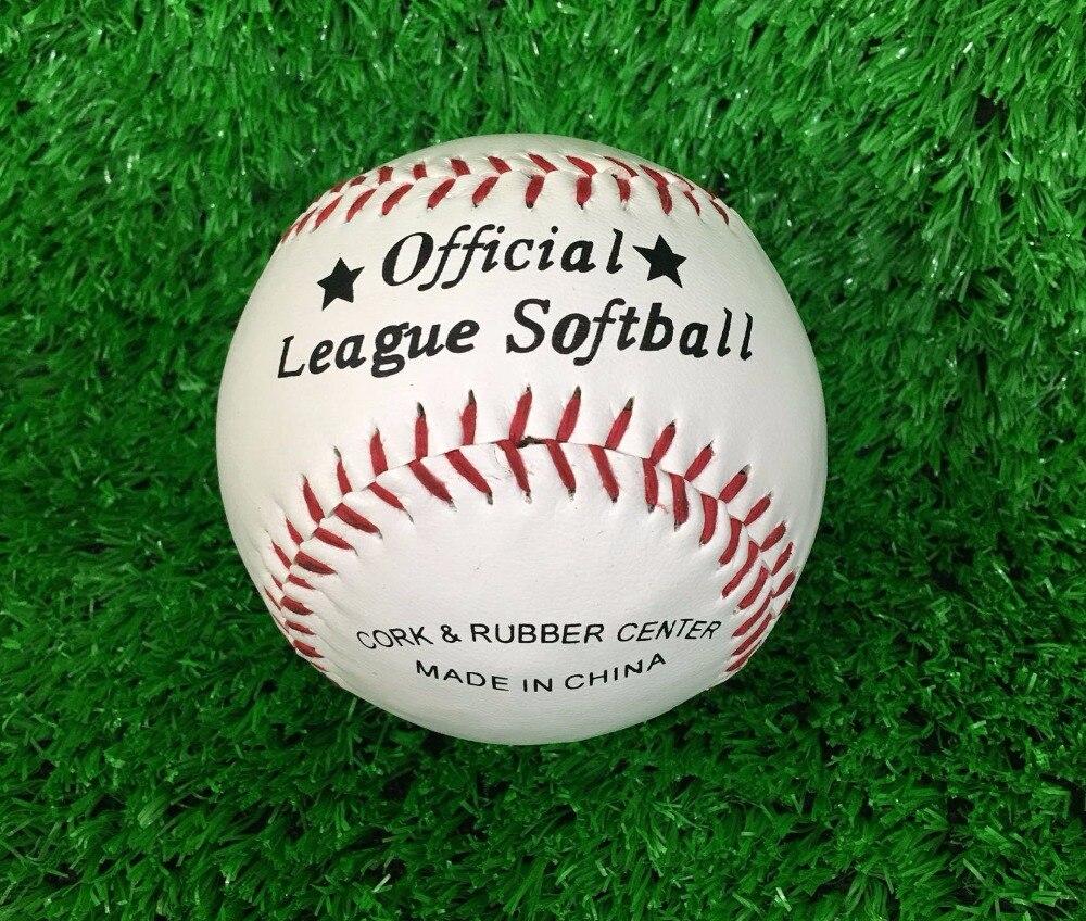 Лидер продаж! новые белые База мяч Бейсбол Практика Trainning ПВХ Софтбол/крутого ручного шитья спорт командная игра, Бесплатная Доставка!