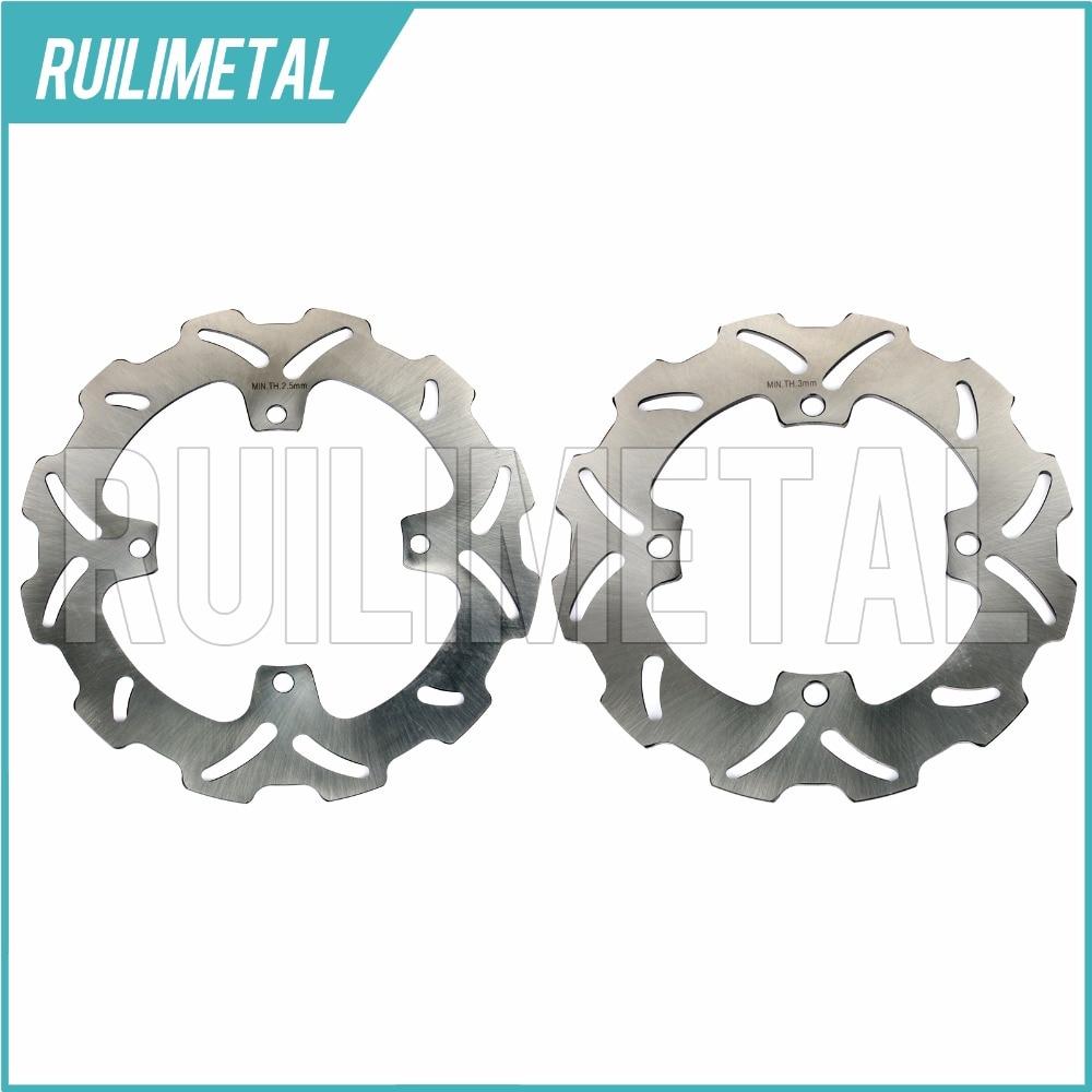 High Quality Full Set Front Rear Brake Discs Rotors for SUZUKI RMZ 250 450 2005-2016 RMX 450 2010 2011 2012 10 11 12
