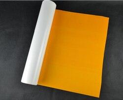 (0,5 x5M) neon Orange 2,5 Quadratmeter PU Heat Transfer Vinyl PU Film für T shirt Eisen auf Vinyl Textil Wärme Drücken vinyl S609