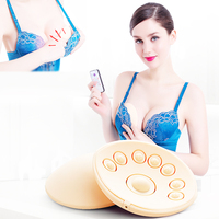 Breast Instruments Chest Massager Wireless Increases Magic Massage Vibrating Bra Breast Head wome enlarge silicone Vibrator pads