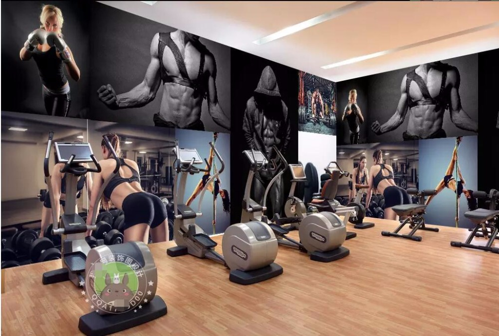 Custom photo mural d room wallpaper sexy beautiful girl in gym