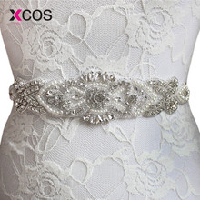 Exquisite Pearl Wedding Belt Bridal Sash with Crystal Rhinestone Shiny  Luxurious Wedding Dress Belts(China b513dd038265