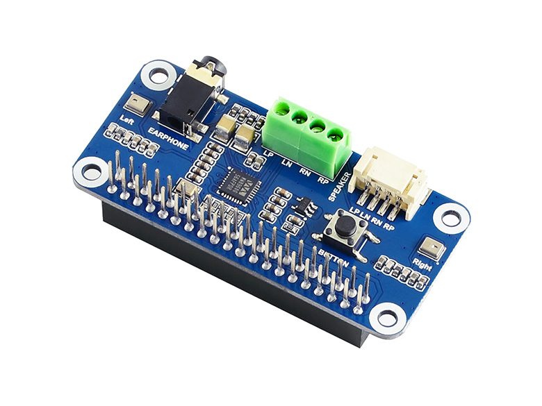 WM8960 Audio HAT For Raspberry Pi Low Power Consumption, Supports Stereo Encoding / Decoding, Features Hi-Fi Playing / Recording