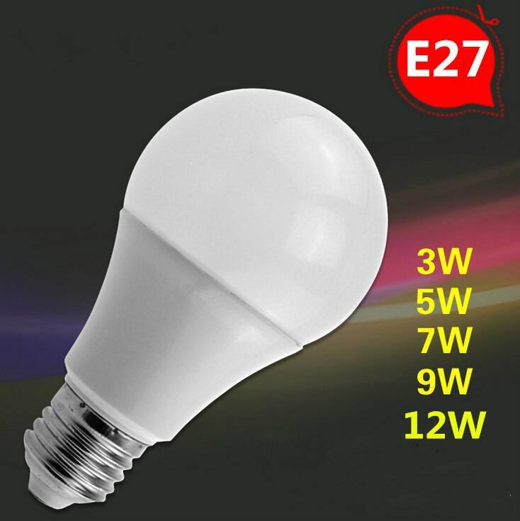 LED Bulb E27 3W 5W 7W 9W 12W 220V 110V LED Globe Bulb Light SMD5730 High Brightness LED Energy-saving Lamp Warm white/White