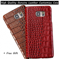 New Customize Top Genuine Leather Cover Case For Samsung Galaxy J5 J500 J500F Fashion Luxury Back