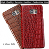 New Customize Top Genuine Leather Cover Case For Apple IPhone 5 5S SE 6 6S Plus
