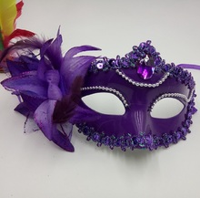 Plastic Prom mask female half face venetian costume ball princess party performance adult children