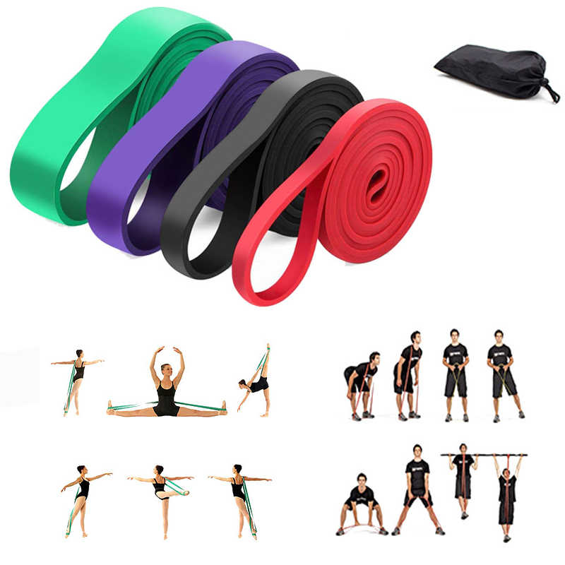 6 niveau Yoga Bands voor Stretching Weerstand Loop Bands Fitness Training Pull Rope Elastiekjes Yoga Oefening Gym Expander