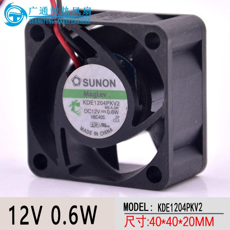 Maglev <font><b>fan</b></font> KDE1204PKV2 4cm <font><b>40mm</b></font> 4020 12V 0.6W silent <font><b>quiet</b></font> server inverter cooling <font><b>fan</b></font> image