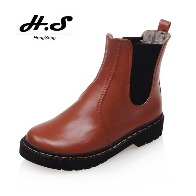 b76e407df1d Otoño invierno mujeres Botas Chelsea mujer zapatos de plataforma plana  botines de época Botties para mujer
