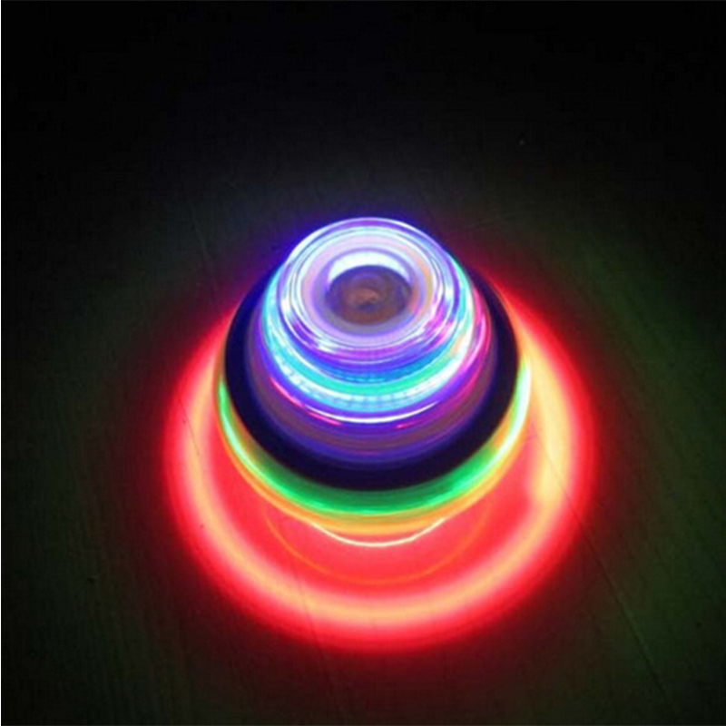 Hot Minions Colorful Light Music Gyro Peg-Top Spinning Toys Kids Children Toys(China)