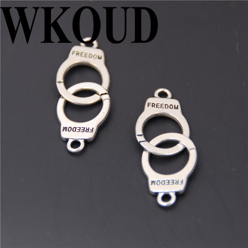 Handcuffs,Charm Silver Alloy Pendants,Jewelry Making Diy Accessories,10pcs