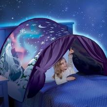 Детские палатки Детские до кровать, палатка мультфильм снежные складной театр утешительные ночью спальный Открытый лагерь Типи