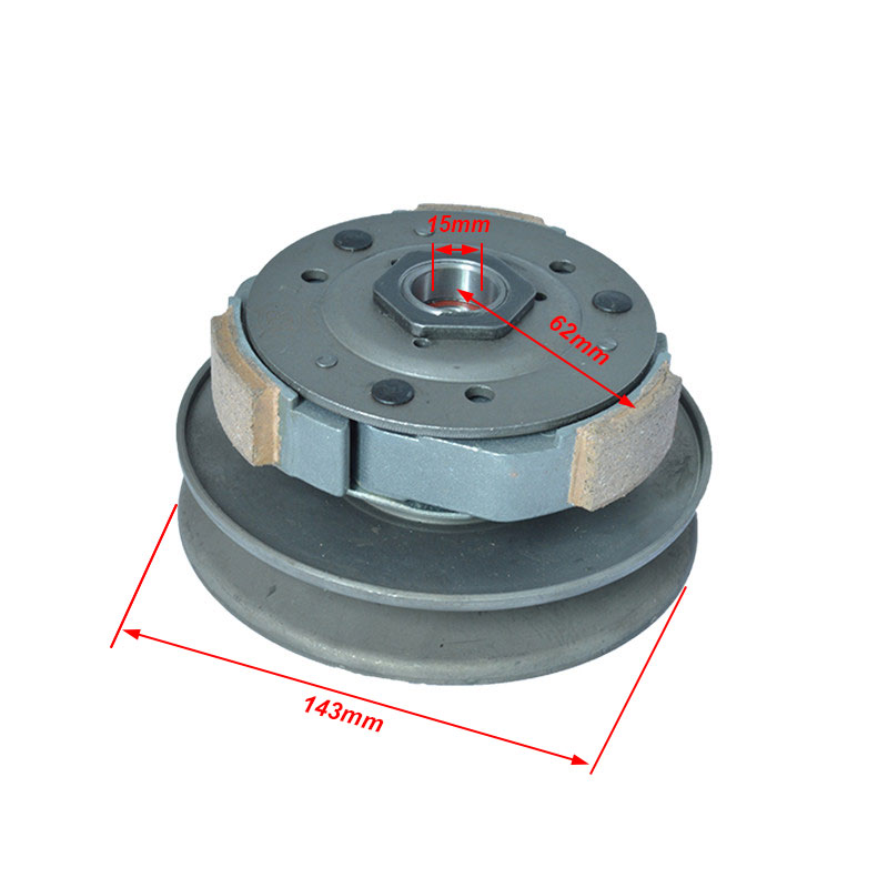 2088 Motorcycle 15mm Shaft Belt Transmission Driven Wheel Clutch Assembly For Haojue Suzuki AN125 HS125T AN HS 125  Spare Parts