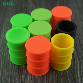 Competitive price oil barrel shaped silicone container storage jar 26ml,Silicone container for stick 50pcs free shipping