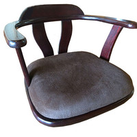 Japanese Zaisu Legless Chair Floor Zaisu Tatami Arm Ergonomic Low Chair Meditation Solid Wood Furniture Design
