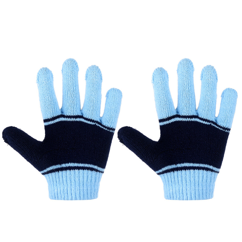 4b5f2d26db351 Vbiger 3pcs Cartoon Kids Winter Knitted Scarf Gloves Hat Sets Children  Knitting Wool Beanies Cap Gloves for Boys Girls-in Scarves from Mother    Kids on ...