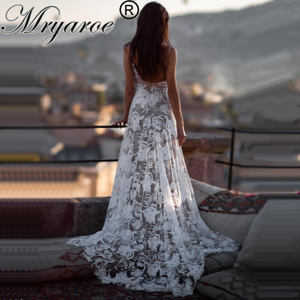 Mryarce 2019 Boho Wedding Dress Sexy Open Back Exclusive