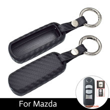 Starlionr Soft Carbon Fiber Car Key Fob Cover Cases For Mazda 3 2 5 Mazda 6 Axela CX-3 CX-5 CX5 CX-7 CX7 CX-9 RX8 Smart Keys