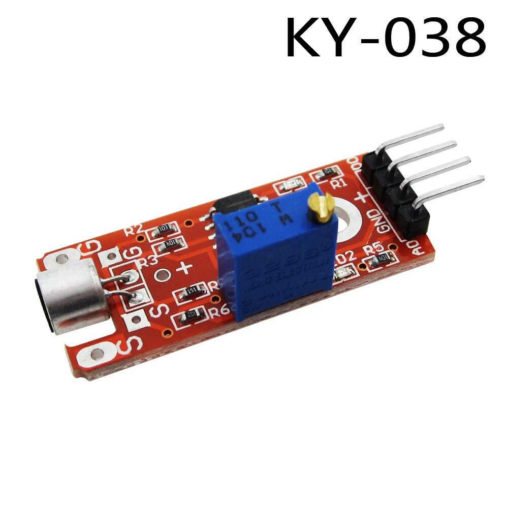KY-038 pin Mini Suono Modulo Sensore di Rilevamento Vocale Microfono TrasmettitoreKY-038 pin Mini Suono Modulo Sensore di Rilevamento Vocale Microfono Trasmettitore