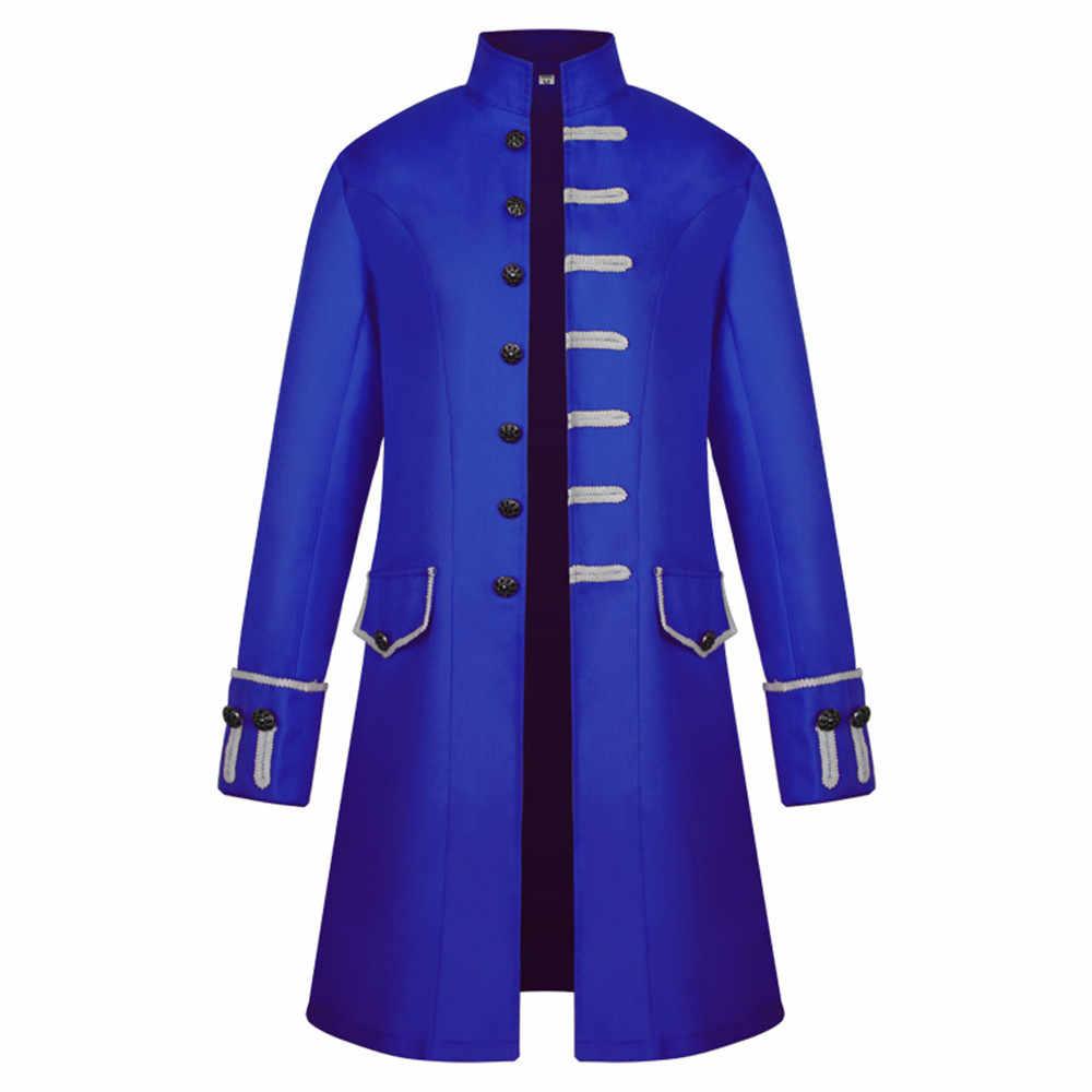 קוספליי מימי הביניים קוספליי ליל כל הקדושים תחפושות ערפדים לגברים פאנק רטרו רנסנס גברים של מעיל מימי הביניים נובל נייט אחיד