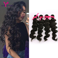 Remy Queen Hair Extensions 6A Brazilian Hair Loose Wave Human Hair Weft Cheap Brazilian Virgin Hair 4 Bundles Wavy Soft and Full