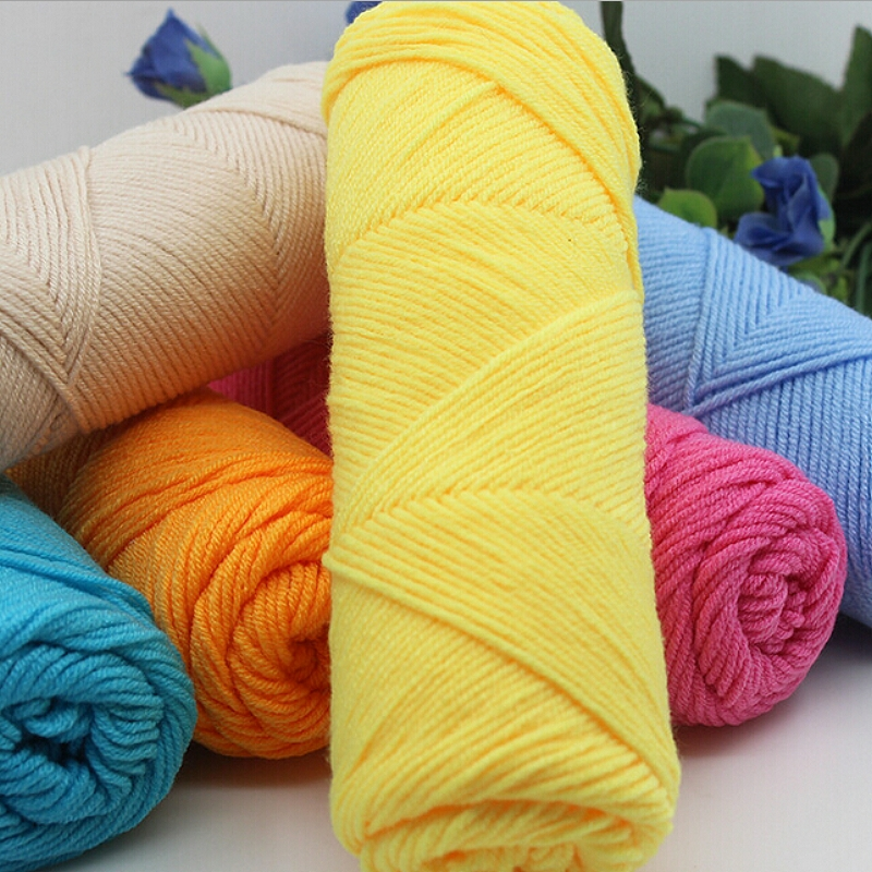 Hand Knitting Yarn : Yarn Hand Knitting Woolen Yarn DIY Weave Thread For Baby Knitted ...
