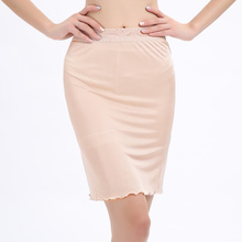 Fashion New Summer Women Lady Spun 100% Silk Half Slip Night Skirt  YH63