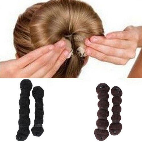 Designed 2pcs/set Elegant Hair Styling Magic Style Bun Maker Hairstyle Updo DIY Tool