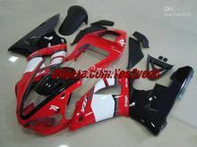 Мотоцикл Обтекатель комплект для YAMAHA YZF R1 YZF-R1 2000 2001 YZFR1 YZF1000 00 01 Красный белый черный Обтекатели комплект + 7 подарки
