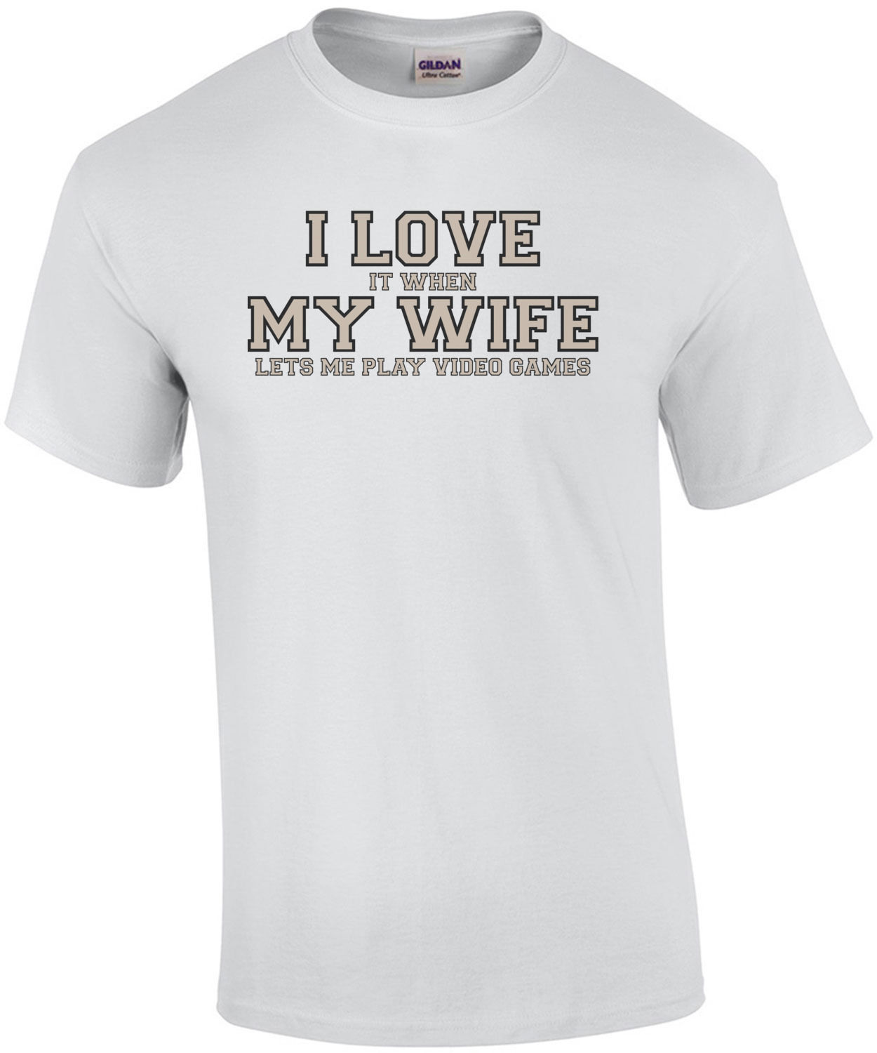 I Love It When My Wife Lets Me Play Video Games - Funny T-Shirt Short Sleeve Casual Printed Tee Size S-3Xl T Shirt Top Tee