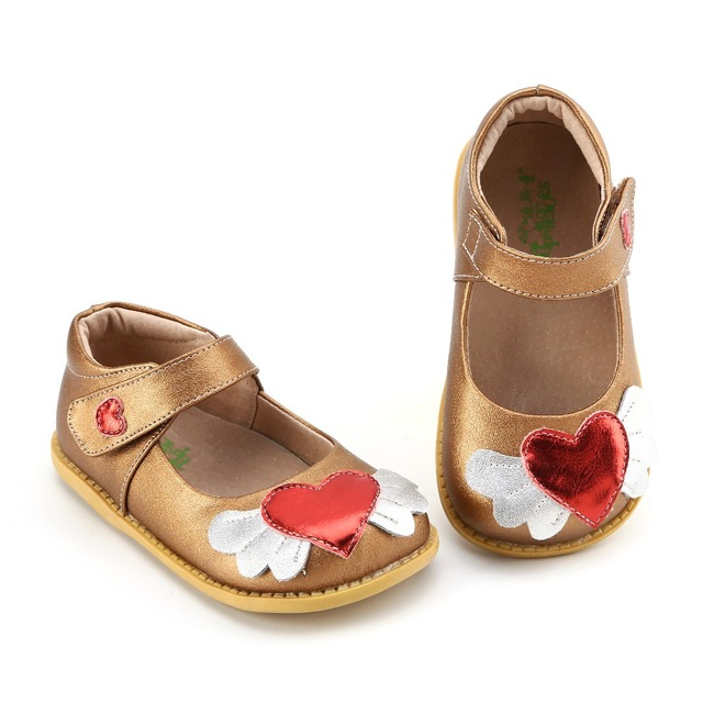 TipsieToes Brand High Quality Genuine Leather Stitching Kids Children Shoes For Boys And Girls 2019 Autumn copper heart New