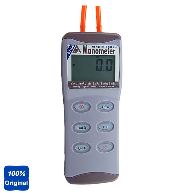 100psi Manometer Digital Pressure Gauge Differential Pressure Meter AZ-82100