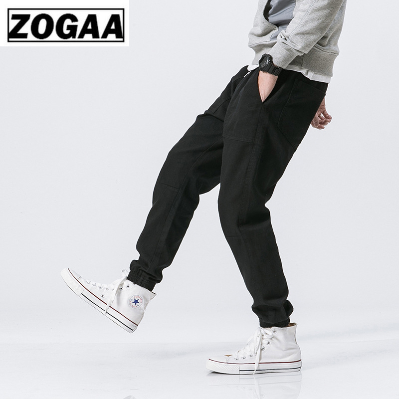ZOGGA Solid Color Lightweight Ankle Length Men Cargo Pants with Drawstring Cotton Polyester Mid Waist Pants Men NO Fade shrink in Cargo Pants from Men 39 s Clothing